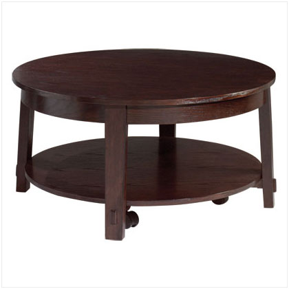 British colonial decor gifts wood round coffee table 38 39 - Table basse ronde pivotante ...